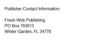 Publisher Contact Information